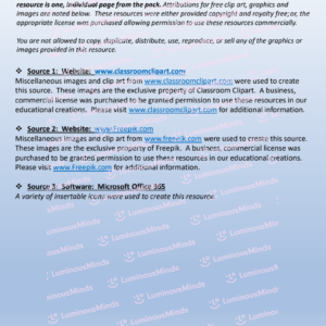 Reading With Sh Worksheet Page Two Resources And Attributions On Light Blue Background