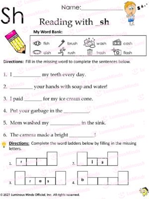 Reading With __sh Worksheet