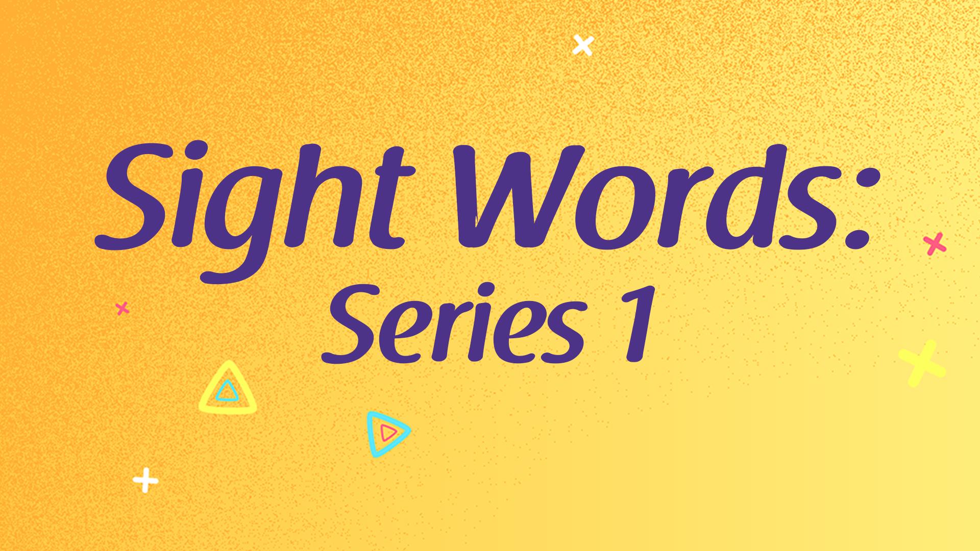 sight words series 1 thumbnail