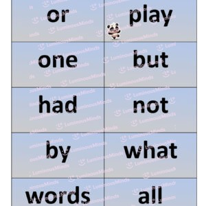Luminous Minds The Sight Word Pack Fry Words Set 2 Fry Sight Words Flashcards Page 1 of 3 With Ten Sections Of Words For Children Learning To Ready